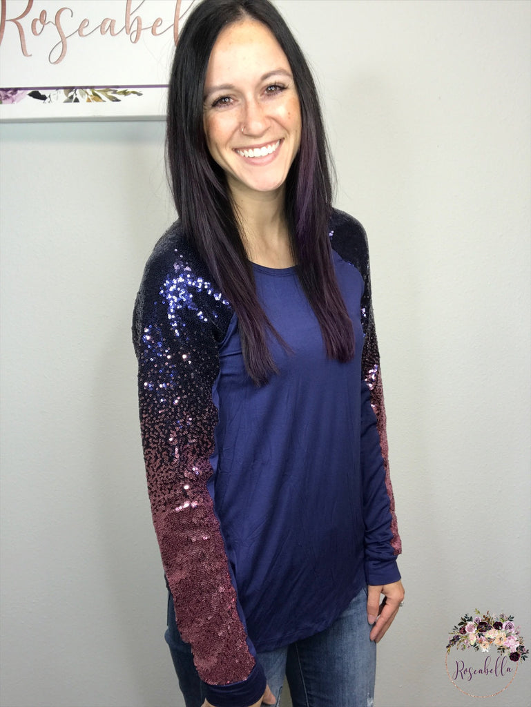 S & M ONLY The Ombre Sequin Top - RoseabellaCo