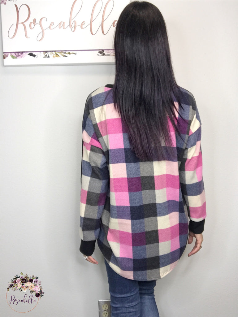 XL & 3XL ONLY Pretty in Plaid Top - RoseabellaCo