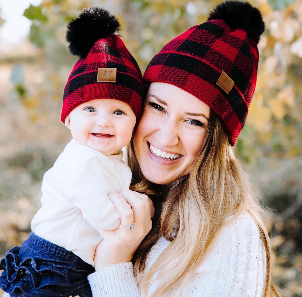 Mommy + Me Buffalo Plaid Hat - RoseabellaCo