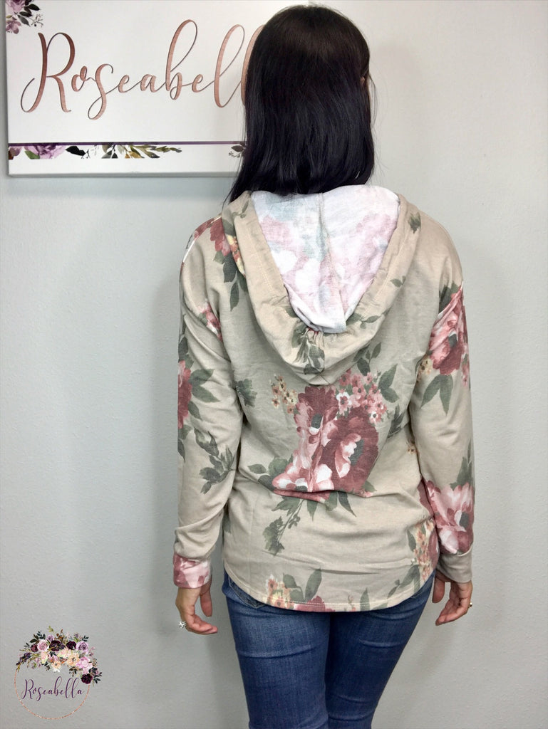 M, L, 2XL ONLY The Cozy Floral Hoodie - RoseabellaCo