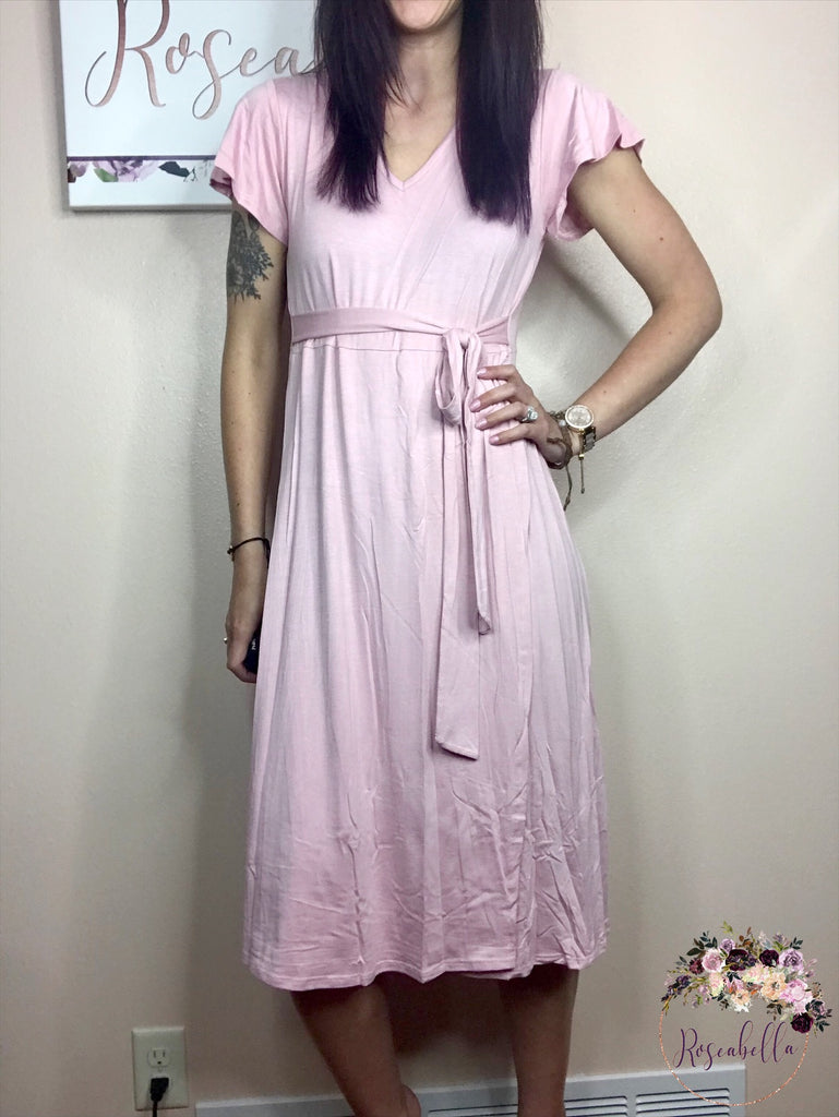 M & L ONLY Rose V-Neck Wrap Dress - RoseabellaCo