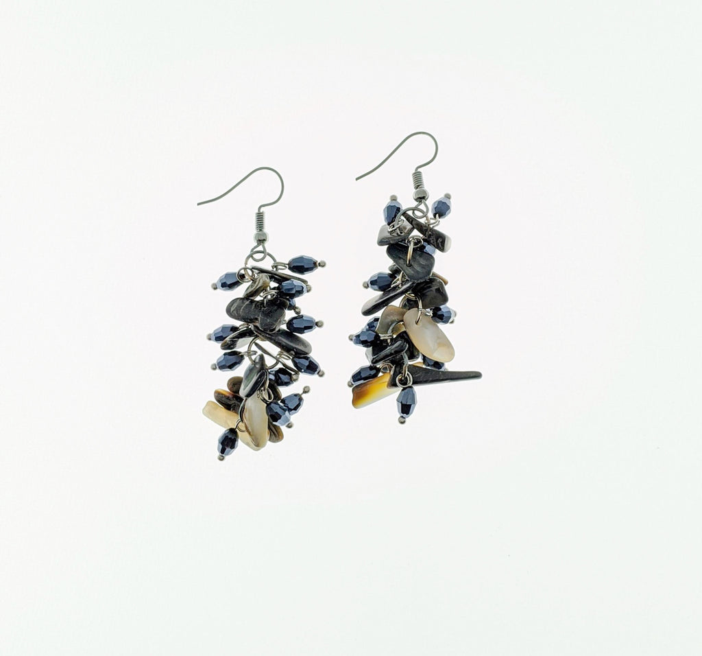 GRAY ONLY Crystal Stone Drop Earrings - RoseabellaCo