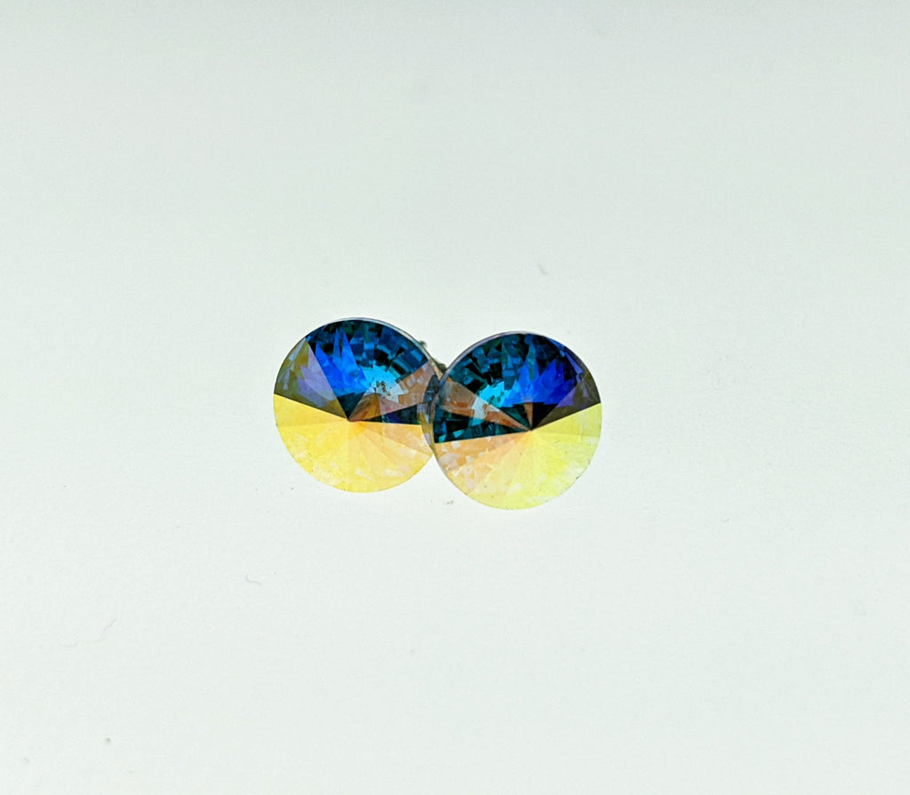 Swarovski Crystal Elements Stud Earrings - Roseabella
