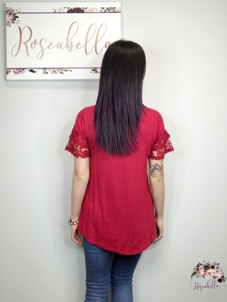 S, XL, 2XL ONLY Dark Red Romantic Top - RoseabellaCo
