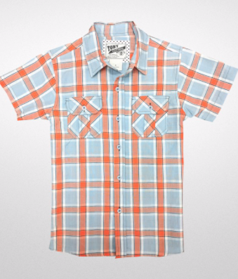 Boys Plaid Polo Top - RoseabellaCo