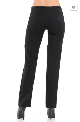 Black Straight Leg Dress Pants - RoseabellaCo