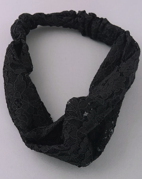 Black Lace Headband - Roseabella