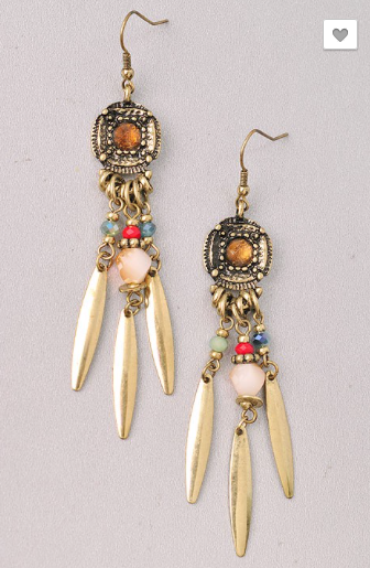 Medallion Tribal Earrings - Roseabella