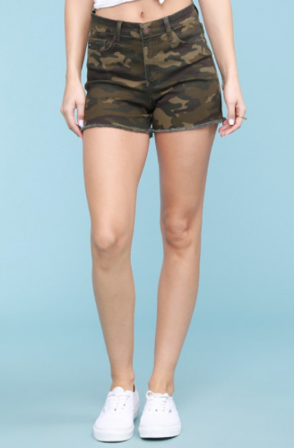 M, L, XL ONLY Camo Cut-Off Shorts - RoseabellaCo