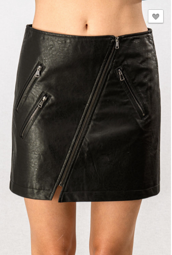 S & M ONLY Faux Leather Skirt - RoseabellaCo