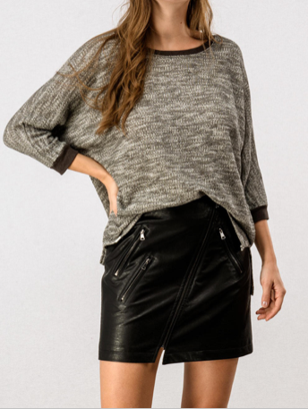 Faux Leather Skirt - RoseabellaCo