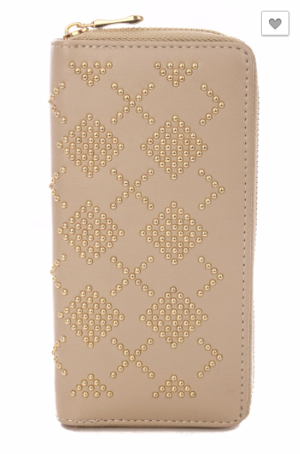 Ivory Studded Wallet - RoseabellaCo