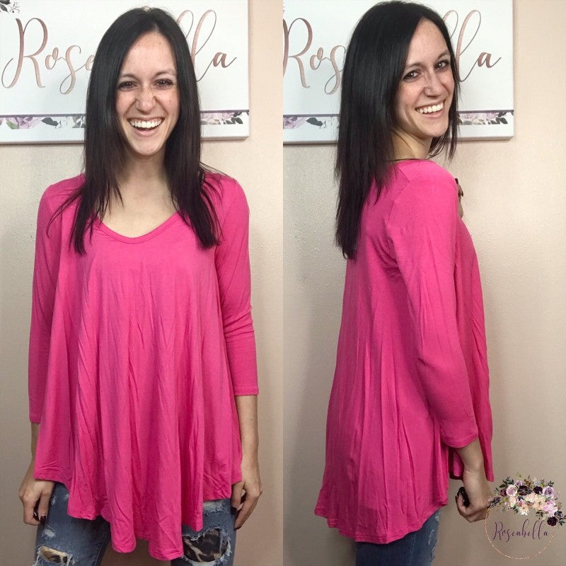 Small ONLY Bamboo Pink Paradise Top - RoseabellaCo