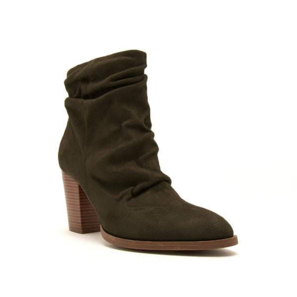 SIZE 8.5 ONLY Olive Suede Booties - RoseabellaCo