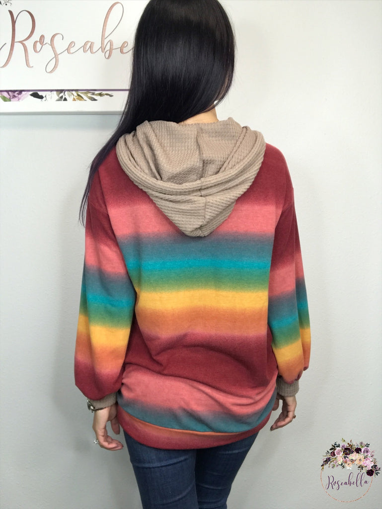 S, M, L ONLY The Harvest Sunset Hoodie - RoseabellaCo