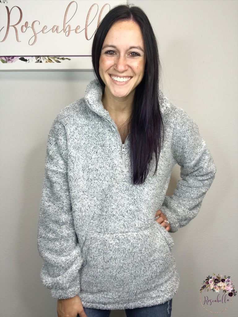 REG & PLUS Gray Cozy Pull-Over - RoseabellaCo