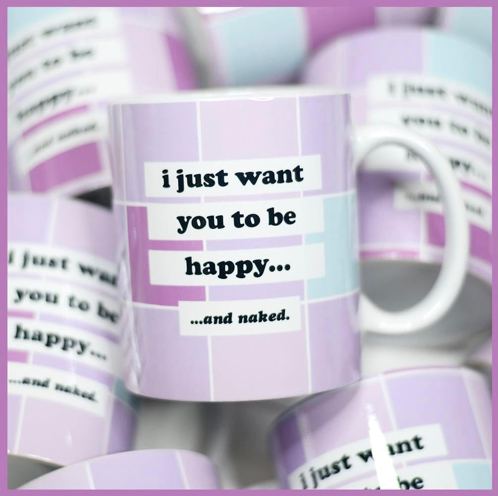 Happy & Naked Mug - RoseabellaCo