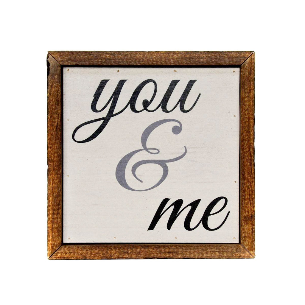6x6 You & Me Sign - Roseabella