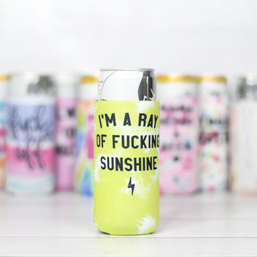 I'm a Ray of F*cking Sunshine Slim Can Coozie