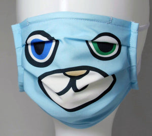 Reusable Child Mask - Blue Bear
