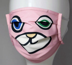 Reusable Child Mask - Pink Bear