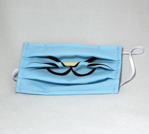 Adult Reusable Mask - Blue Cat