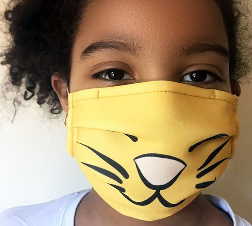 Reusable Child Mask - Yellow Cat
