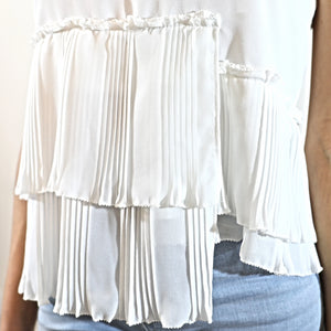 Pleated Top White