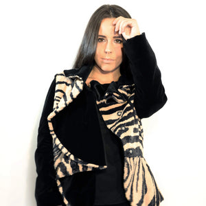 Faux Fur Tigerprint Jacket