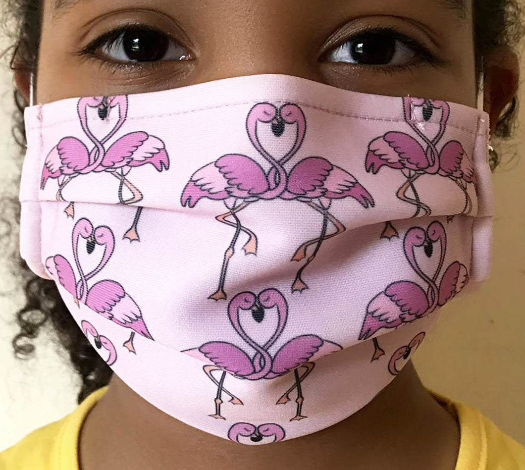 Reusable Child Mask - Flamingo