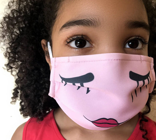 Reusable Child Mask - Pink Girl