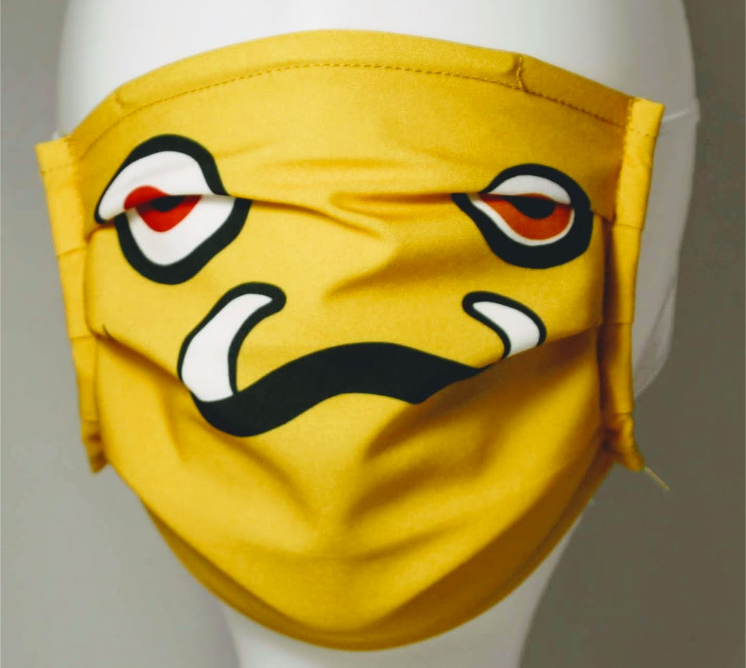 Adult Reusable Mask - Yellow Monster