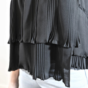 Pleated Top Black