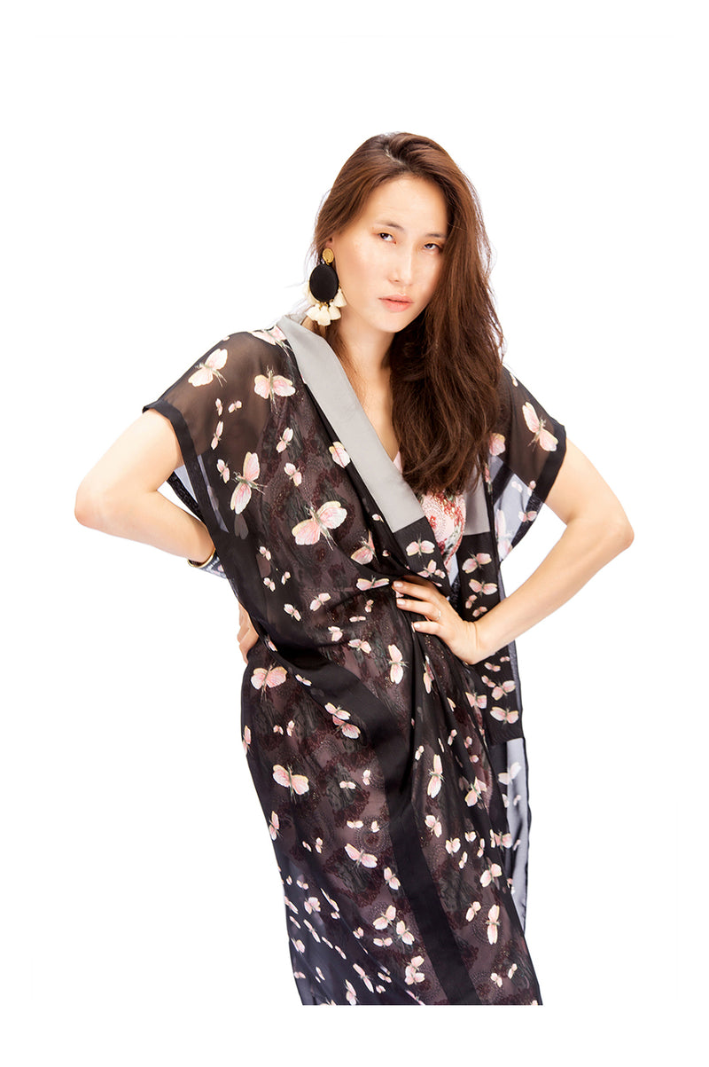 Hone Cover Up Butterflies Grey