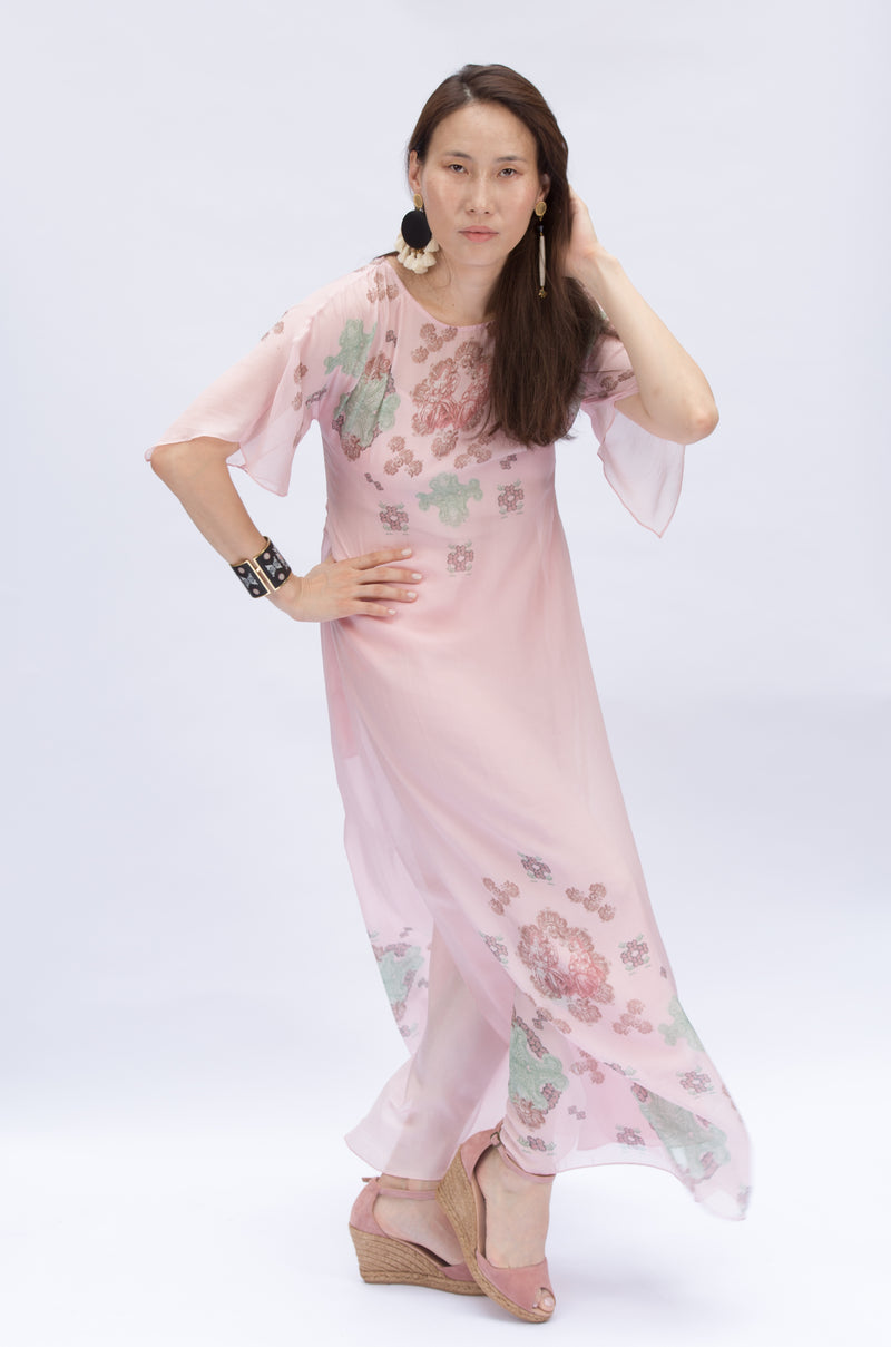 Eva - Chiffon Dress Pink
