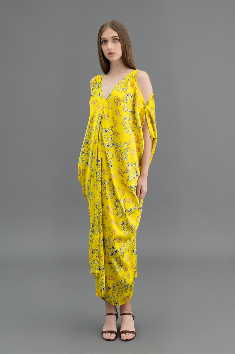 Yolanda Kaftan Cross Stitch Yellow