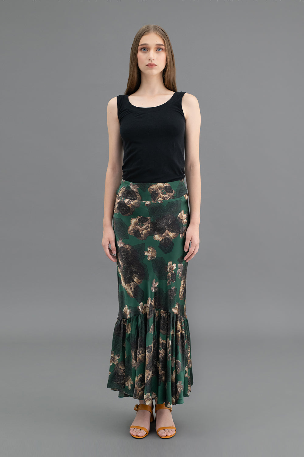 Lina Skirt Relief Green