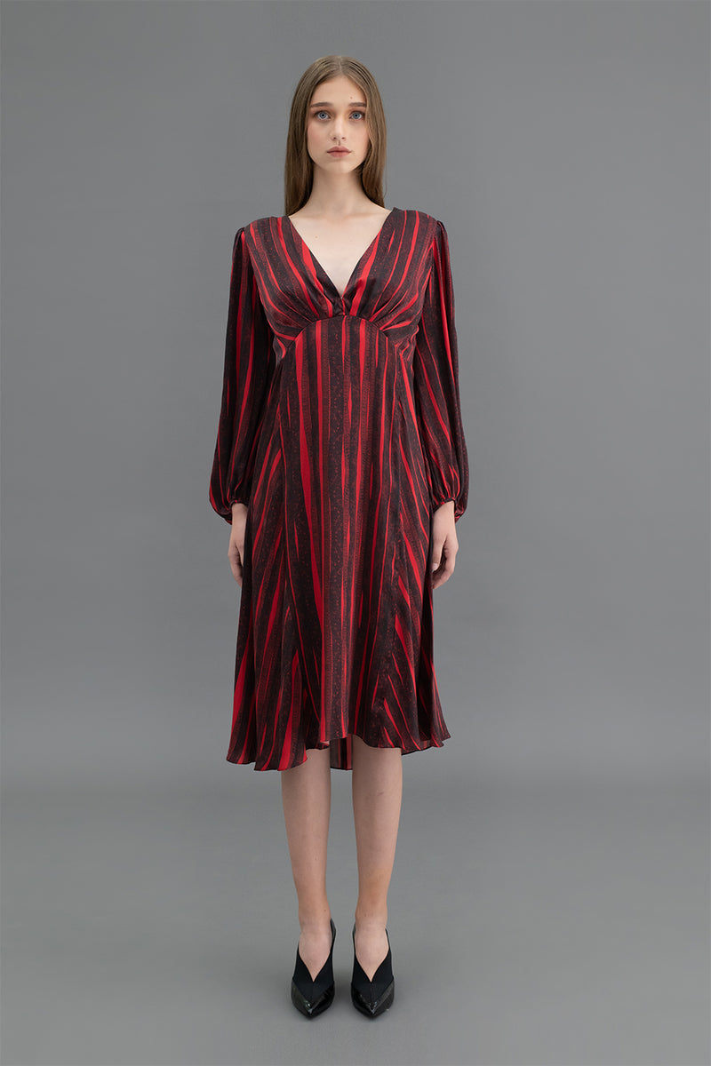Adele Dress Reeds Red