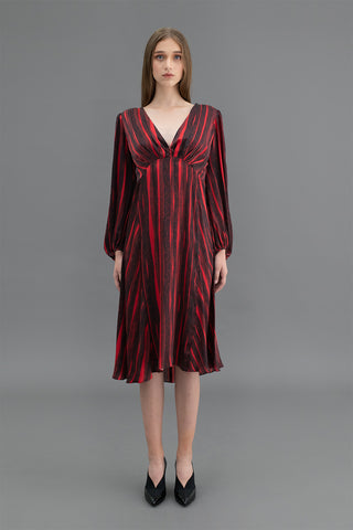 Alessia Hand beaded  Kaftan Dress Reeds Red