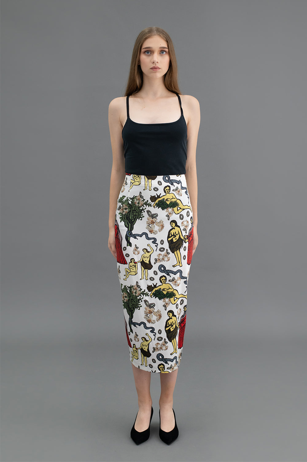 Talam Skirt - White Apple