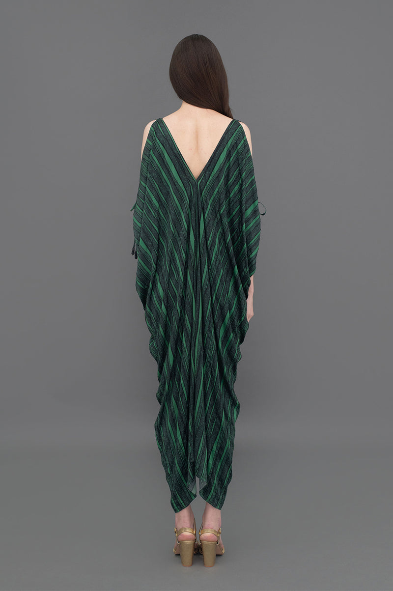 Alessia Hand beaded  Kaftan Dress Reeds Green