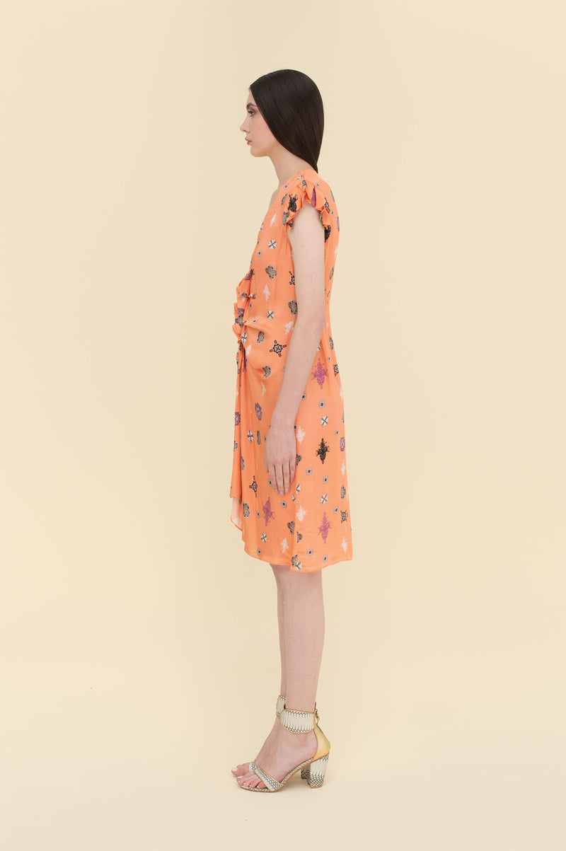 Diane Dress Orange Tiles