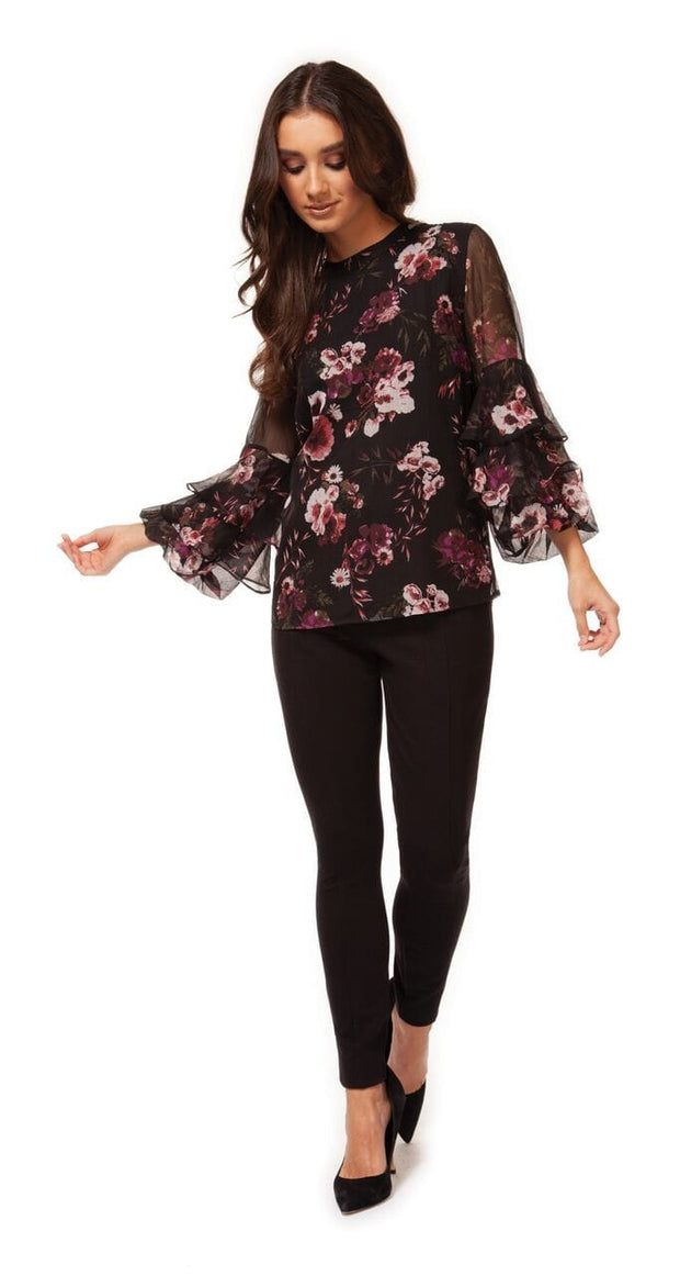 Women's Tiered Sleeve Blouse