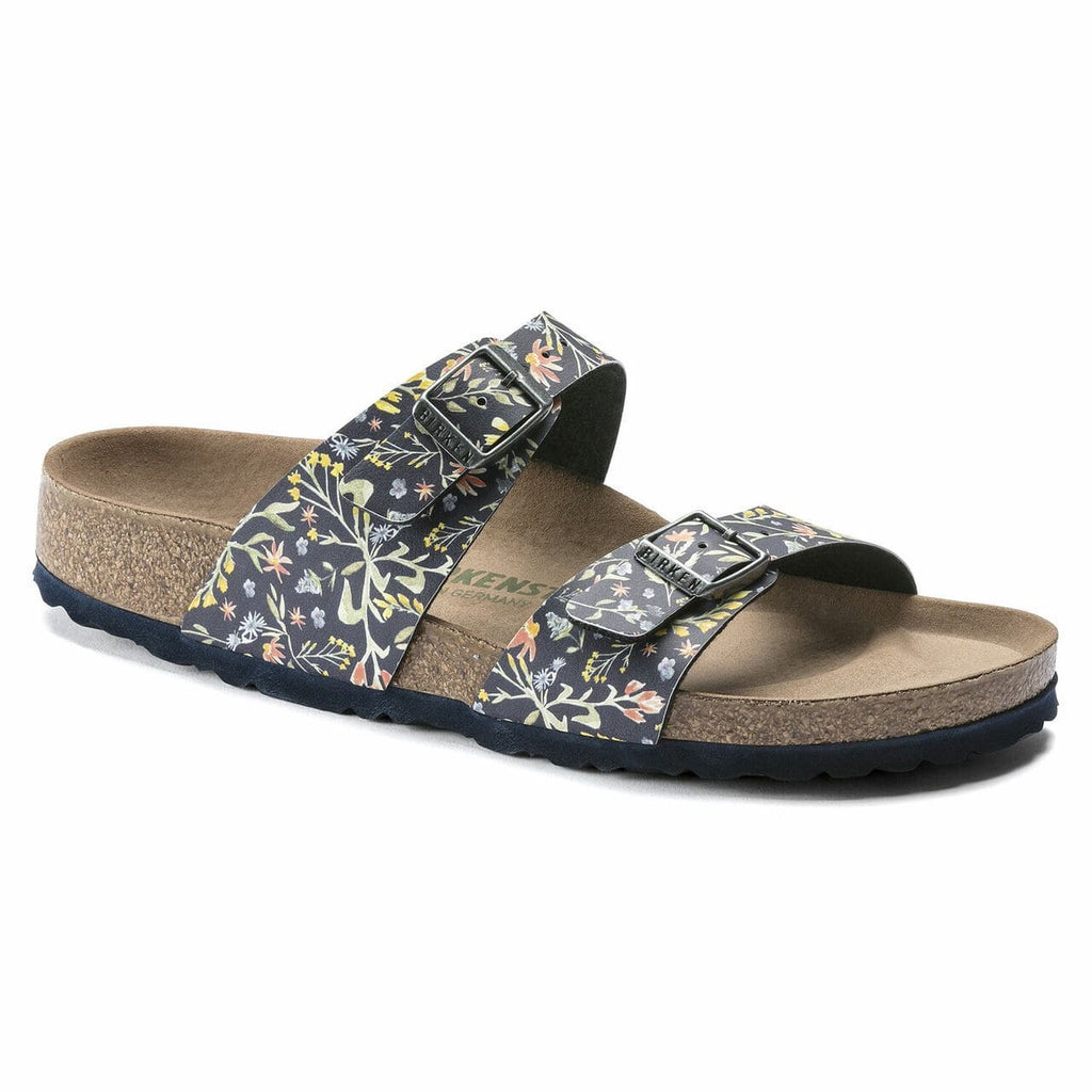Sydney BF Watercolor Flower VEG Navy - Narrow