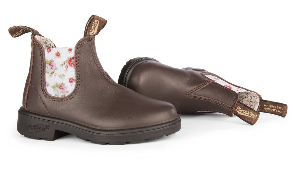 Blundstone 1641 - Kids Brown Flower Elastic *CLSL*