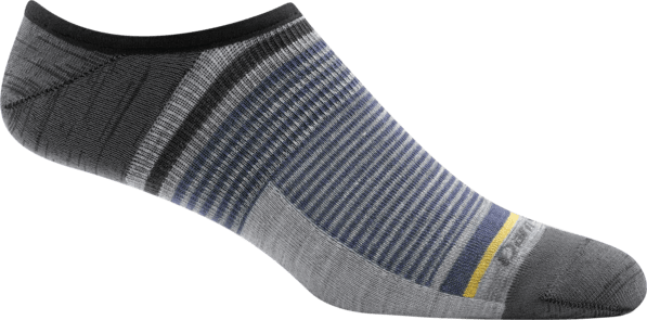 Men's Topless Stripe No Show Hidden Light Sock