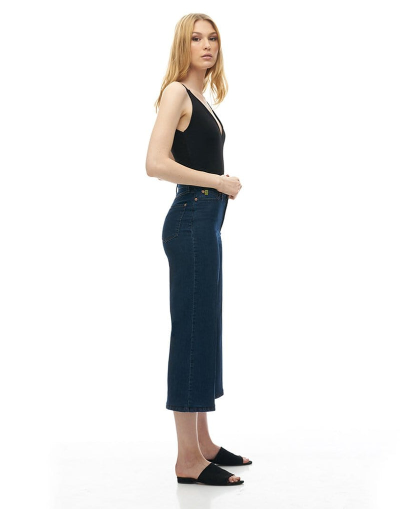 Lily High-Rise Wide Leg Ankle Jean - Ferris Wheel