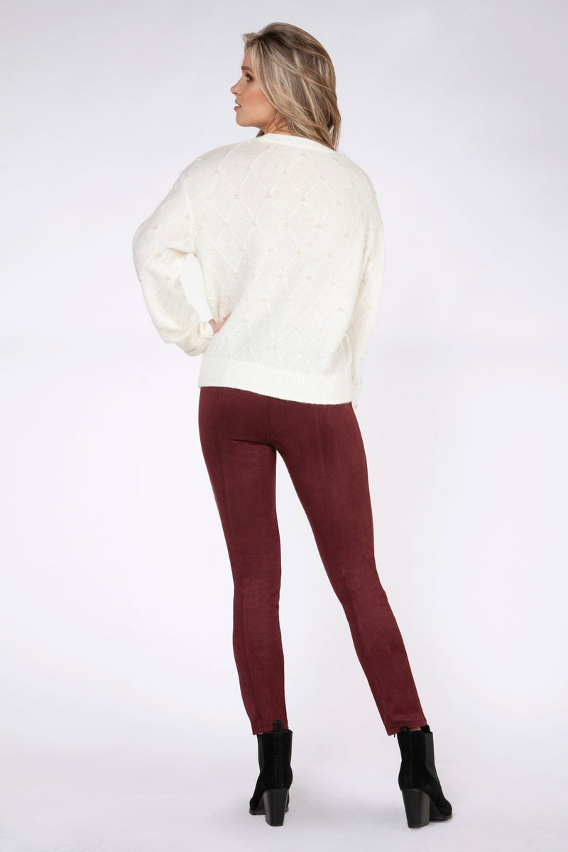 Pearled Sweater Long Sleeve