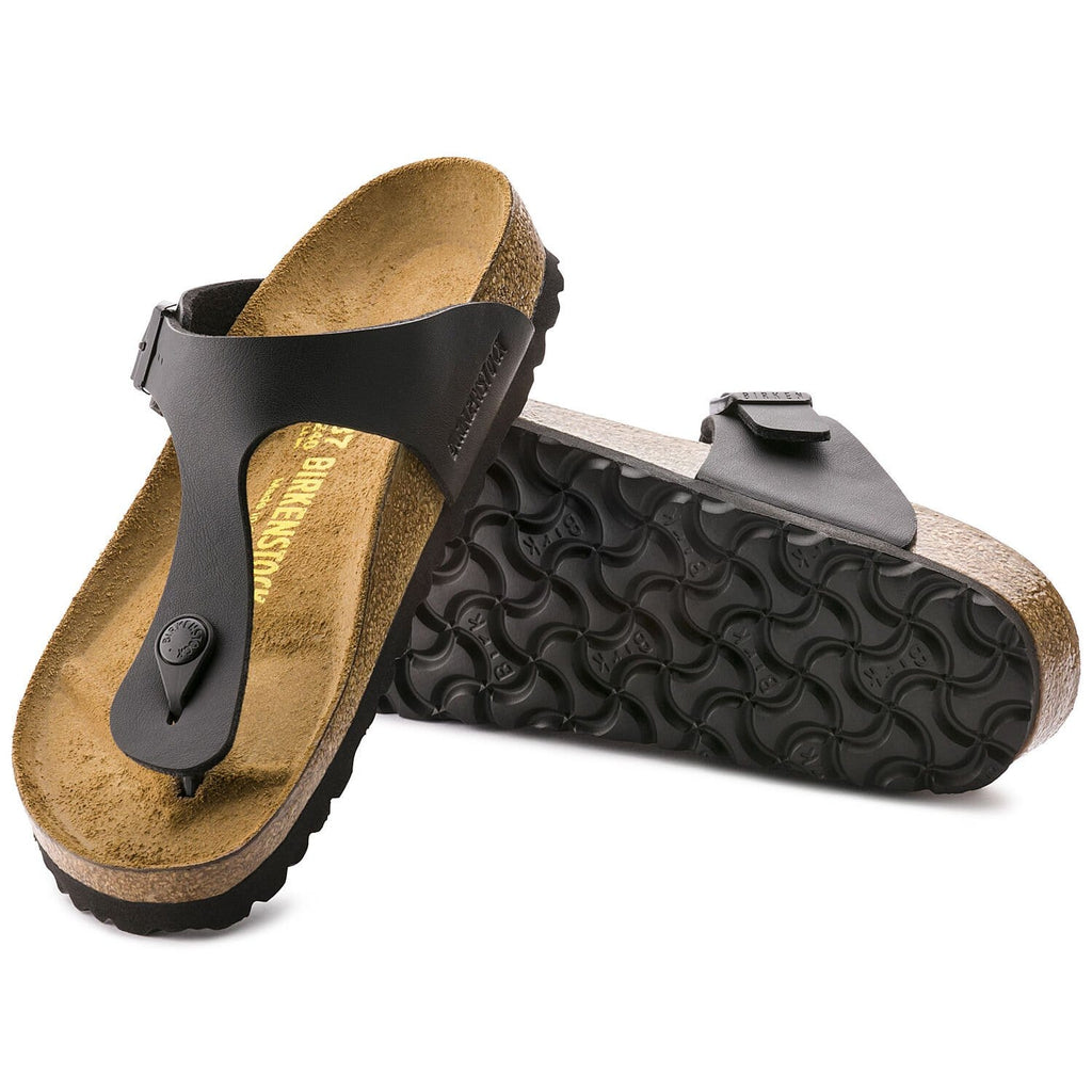 Gizeh Black Birko-Flor Sandals - Regular