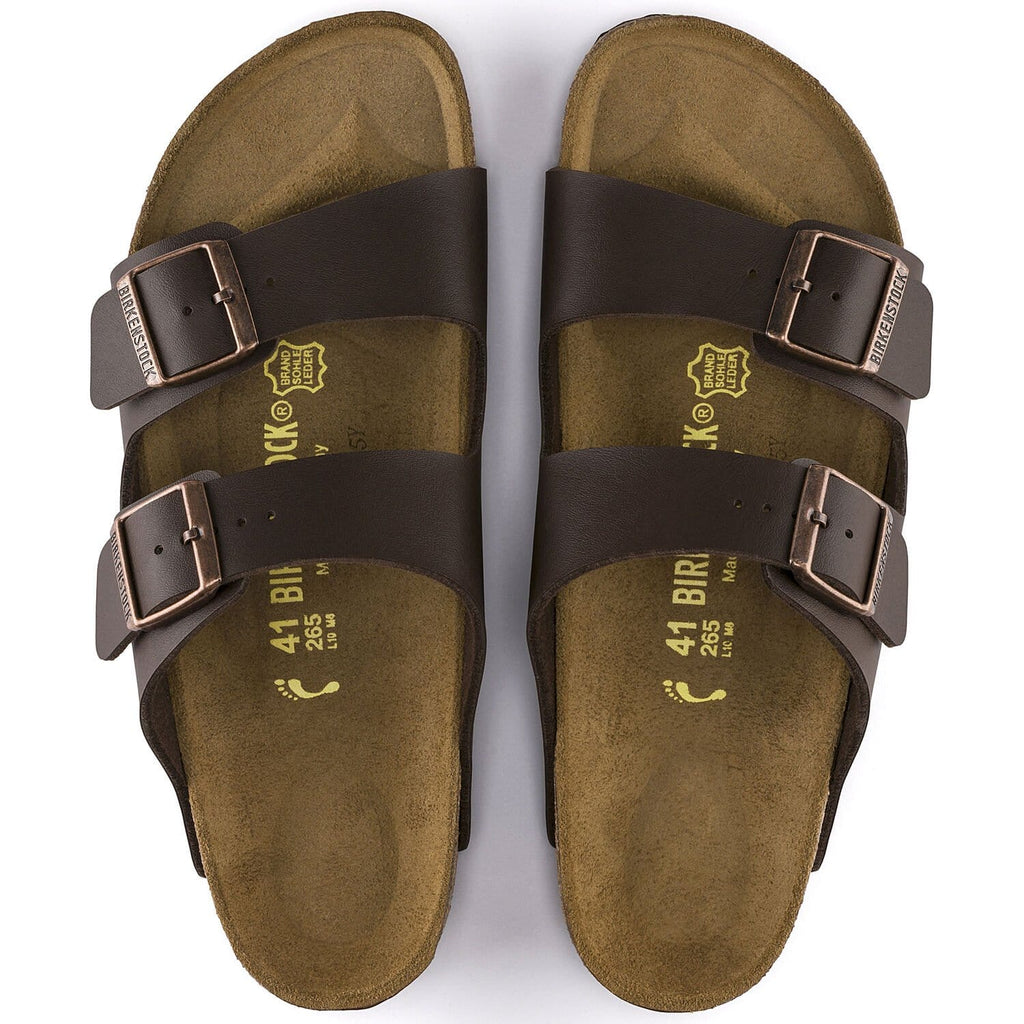 Arizona Dark Brown Birko-Flor Sandal - Regular